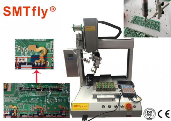 4 Axis PCB Robotic Soldering Machine Customized Thermode 1-99.9s Heating Time