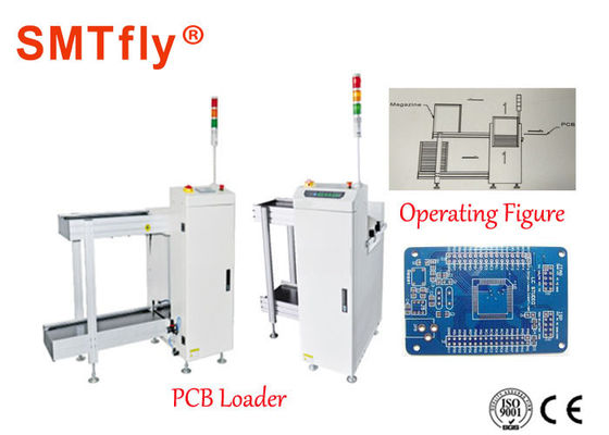 China Fully Automated SMT Smt Magazine Loader , White PCB Destacker 350*250mm supplier
